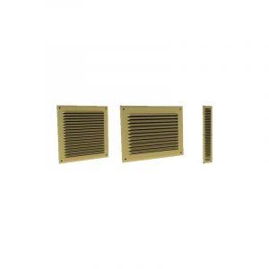 Grille à auvents en aluminium prélaqué doré 150 x 150 - GADO ECONONAME - GADO150 150 x 150