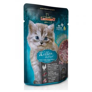 Terrine pour Chat Kitten Contenance - lot de 16 sachets de 85 g - Leonardo