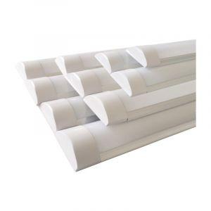 Réglette Lumineuse LED 60cm 18W (Pack de 10) - couleur eclairage : Blanc Froid 6000K - 8000K - SILAMP