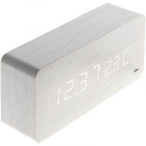 Thermomètre lingot finition effet bois blanc cérusé - Otio