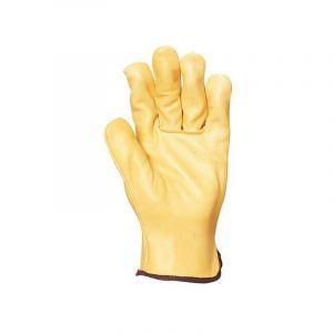 Gants de manutention cuir Eurotechnique 2230 (lot de 10 paires de gants) Jaune 9