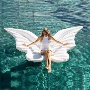 Bouée Ailes, Flotteur De Papillon Blanc d'ailes d'ange Gonflable de D'été ou de Plage Piscine Jouet pour Adultes