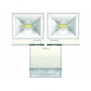 Projecteur LED Double avec Detecteur theLeda 2x10W BLANC / Theben