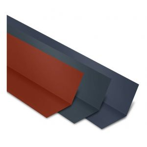 Faîtière Plate Contre Mur 2100 mm Acier Laqué | Rouge Tuile | RAL 8012 - YOUSTEEL