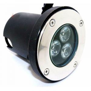 Spot LED Encastrable Extérieur IP65 220V Sol 3W 80° - Blanc Chaud 2300K - 3500K - SILAMP