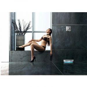 Scada avec plaque à carreler 120 | Grille Wave - Sans éclairage - KESSEL