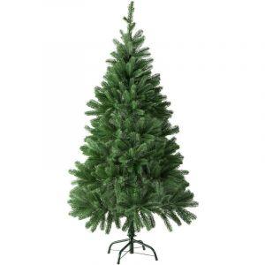 Tectake - Sapin Artificiel de Noël 140 cm 470 Branches en Polyéthylène Vert