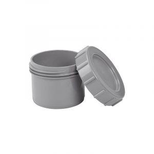 Bouchon avec capuchon à visser gris,à enficher dans un manchon - DN 125 - AIRFIT
