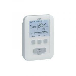 Thermostat ambiance programmable - HAGER digital 230V 7 J - HAGER SAS : EK530