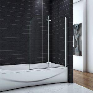 OCEAN Pare-baignoire 120x140cm écran de baignoire 6mm verre anticalcaire - OCEAN SANITAIRE