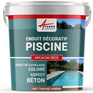 ENDUIT DE CUVELAGE PISCINE FINITION BETON CIRE - ARCACIM DECO - ARCANE INDUSTRIES - Caramel - Marron - Kit de 16m²