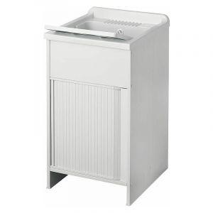 Banyo - Bac à laver avec meuble et porte jalousie | 450 x 500 x 850 mm