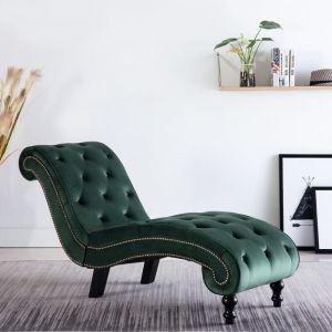 Vidaxl - Chaise Longue Velours Vert