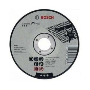 BOSCH 10 Disques a tronconner Metal & inox Ø125 ep 1.6 - 2608619050