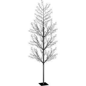 Sapin de Noël 1200 LED blanc froid Cerisier en fleurs 400 cm - VIDAXL