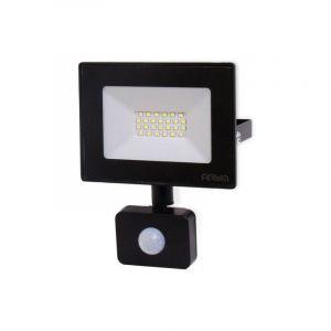 Projecteur LED 20W Noir détecteur de mouvement IP44 | Température de Couleur: Blanc neutre 4000K - ECLAIRAGE DESIGN