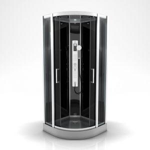 Cabine de douche PRIMUS ROUND 1/4 de cercle 95x95x215cm - AURLANE