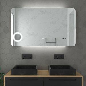 Miroir salle de bain LED auto-éclairant 120x70cm - ATMOSPHERE PLUS 120 - AURLANE