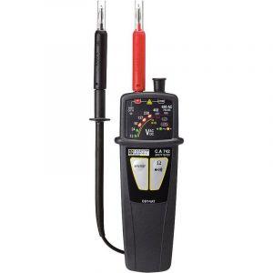 Chauvin Arnoux CA742D Testeur de tension bipolaire CAT IV 600 V Acoustique, LED dusine (sans certificat)
