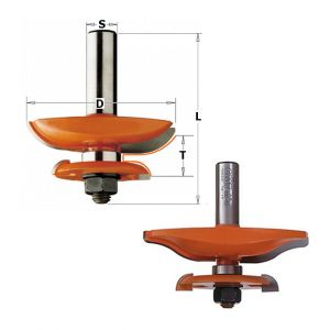 CMT : Fraise plate bande double profil B - queue 12,7 mm