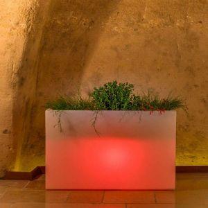Jardinière Flowerpot en résine Rectangulaire 80X35 CM Lampe Rouge - IDRALITE