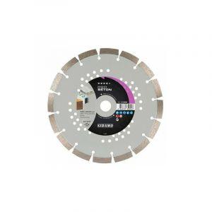 Sidamo - Disques diamants jante segmentée matériaux de construction Pro Béton diamètre 230 mm, épaisseur 2,4 mm, alésage 22,2 mm