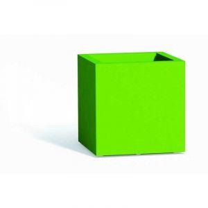 Pot de fleurs Cube en résine Carré H40 Vert 40x40Cm - IDRALITE