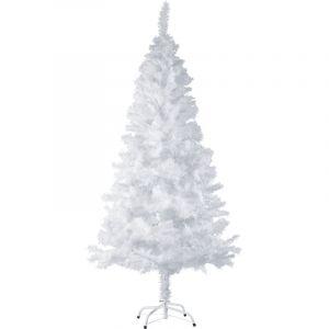 Tectake - Sapin Artificiel de Noël 180 cm 533 Branches en PVC Blanc