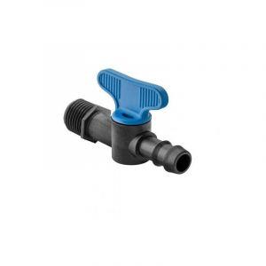 Mini vanne Filetée 1/2'' - cannelée 16 mm pour micro irrigation - ABRISA