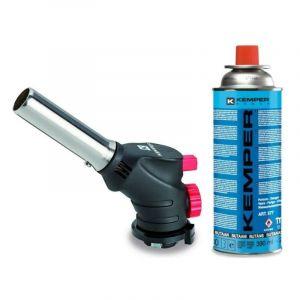 Chalumeau gaz kemper + cartouche butane propane 227gr multifonctions