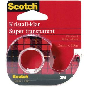 Ruban adhésif Scotch® Crystal Clear 600 3M 7000103388 transparent (L x l) 10 m x 12 mm 10 m