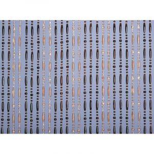 MOREL - Rideau de porte Olivia - 90x220 cm - ambre et miel translucide