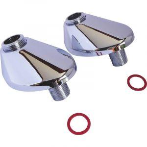 Somatherm For You - Raccord excentré de 45mm avec rosace - M15/21 M20/27
