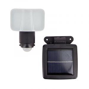 Projecteur murale LED, 200 lumens, avec détecteur de mouvement et panneau solaire déporté - PR200D - Xanlite