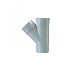 Culotte PVC gris 45° - Ø 125 mm - Double emboîture - Girpi