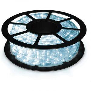 COSTWAY Kit de Ruban Led Lumineux étanche 30M, Bande LED Blanc 55W Pour Intérieur Extérieur, Jardin, Terrasse, Mariage et Fête