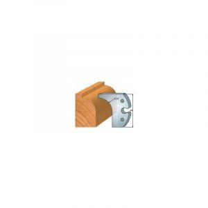 Jeu de 2 fers 60 mm quart de rond 25 mm ref 6010 - LUXOUTILS