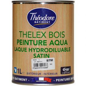 Thelex Bois Aqua - RAL 1005 Jaune miel - 1L : Peinture laque satinée pour la décoration et la protection du bois en intérieur et en extérieur - PEINTURES THEODORE