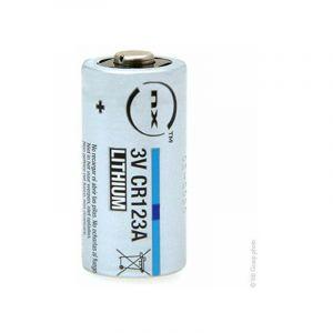 NX - Pile lithium blister CR123 3V 1.45Ah
