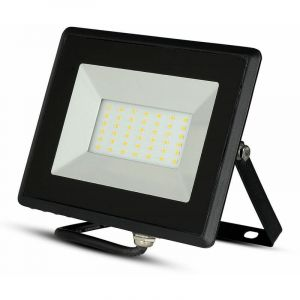 V-TAC VT-4051 projecteur led smd 50W blanc chaud 3000K E-Series ultra slim noir IP65 - SKU 5958