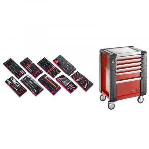 Facom - JET6M3.CM138 Sélection de 138 outils pour la maintenance automobile plus servante 6 tiroirs JET 6 tiroirs