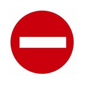 Panneau de signalisation rond | Ø: 30 cm - Modèle: Défense de stationner sortie de secours