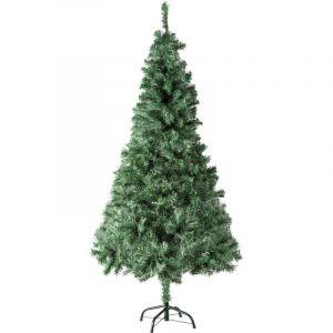 Tectake - Sapin Artificiel de Noël 180 cm 533 Branches en PVC Vert