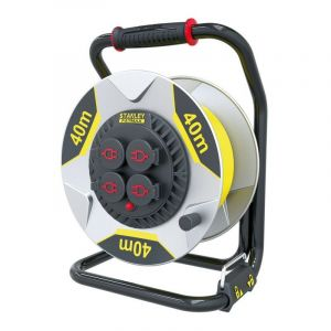 Stanley fatmax professional neoprene cable reel with anti-twist system - 40 m - 3g2.5 - 4 sockets - PEREL