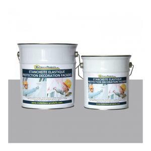 Peinture Etanche & Elastique Pour Protection Façade Gris Ciment - 6 Kg Gris ciment - MATPRO