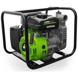 Motopompe thermique 105 Cm3 1.5 VITOGARDEN 4 Temps 3CV Eaux claires ou chargées Vide caves ou Piscines 10M3 / heure