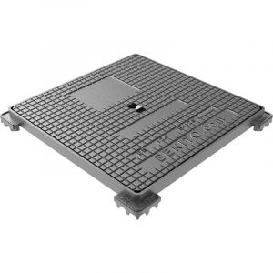 Regard hydraulique carré 250 x 250mm en fonte Classé B 125 - Jardibric