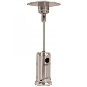 Poêle au Gaz pour Extérieur Acier Inoxydable 13 Kw 25 m² Ø81x221 cm Gris - kekai