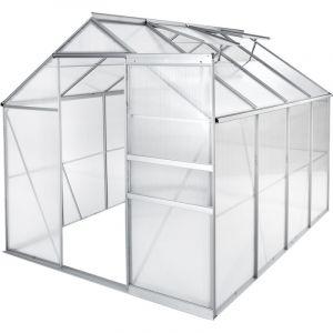 Tectake - Serre de Jardin Polycarbonate 4,41 m² + 2 Lucarnes