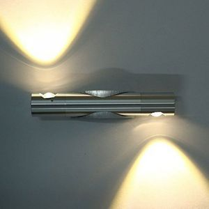 Moderne Applique Murale Intérieur 2 LED 6W Up Down Rotative à 360 Degrés en Aluminium Éclairage Décoration Lumière Réglable pour Chambre Salon Bureau Escalier ( Blanc Chaud ) - STOEX